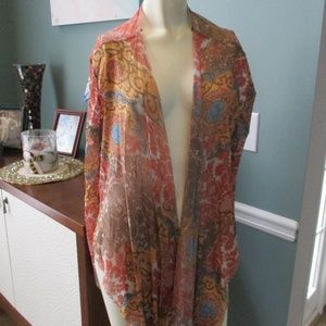 Sweet Pea by Stacy Frati Mesh Paisley Cardigan M